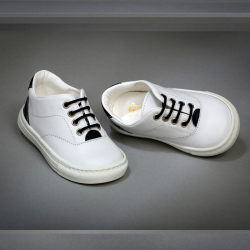 Sneakers λευκό με κορδόνι Everkid 1132A